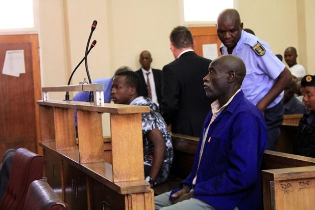 05/12/2018 Johannesburg. Police keep watch in a pack Protea Magistrate court where the two appeared in connection with the murder of three women and four children in Vlakfontein, South of Johannesburg. Picture: Dimpho Maja/ African News Agency (ANA)