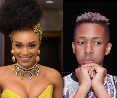 Pearl Thusi and Lasizwe got into a twar after she clocked him for seeking America's validation | Images: Instagram