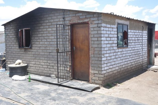 A house in Sondela, Rustenburg, which was set alight and damaged during violent ethnic clashes between isiXhosa and Sesotho-speaking residents in Sondela that left 12 people dead. Photo: ANA