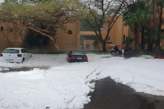 Storm hits Sun City, people evacuated