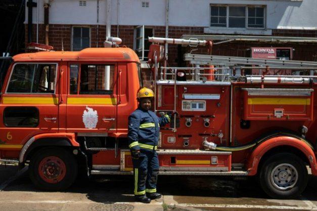 Fire truck. Picture: AFP / Zinyange Auntony