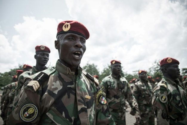 Central African Republic's Defence Minister Marie Noelle Koyara said 1,300 soldiers had been trained at the Russian facility . AFP/File/FLORENT VERGNES