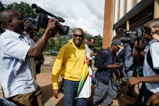 Pastor Evan Mawarire, shown here arriving at the Harare Magistrate's Court on January 17, 2019, became a prominent voice during protests in 2016 when he posted videos on social media criticising the government. Picture: AFP/Jekesai NJIKIZANA