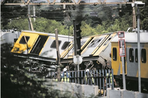 Two locomotives collided at the Mountain View Station in Pretoria, 8 January 2019.  Picture: Jacques Nelles