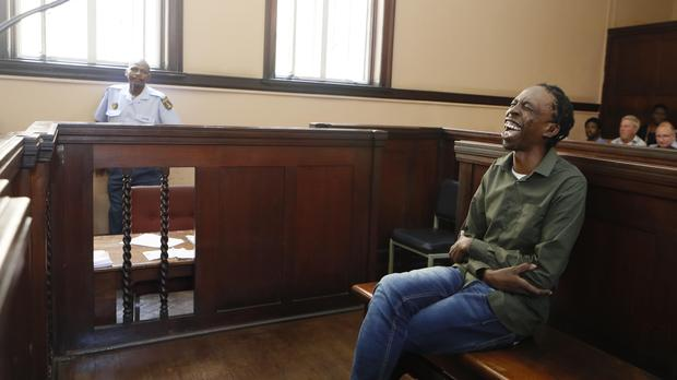 Thulani Ngcobo, better known as Pitch Black Afro, appears in court, where his bail hearing on premeditated murder charges was postponed. Picture: Twitter.