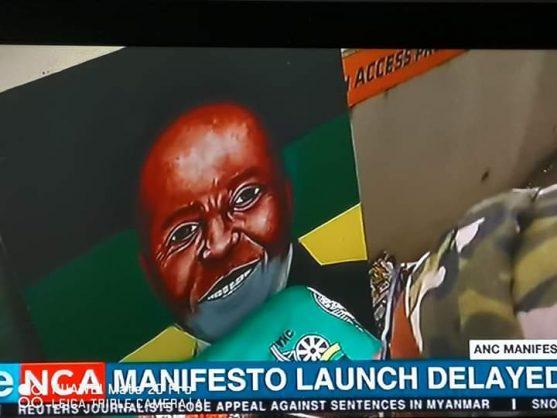 Lebani 'Ras' Sirenje's alleged portrait of President Cyril Ramaphosa. Picture: Screenshot, Twitter.