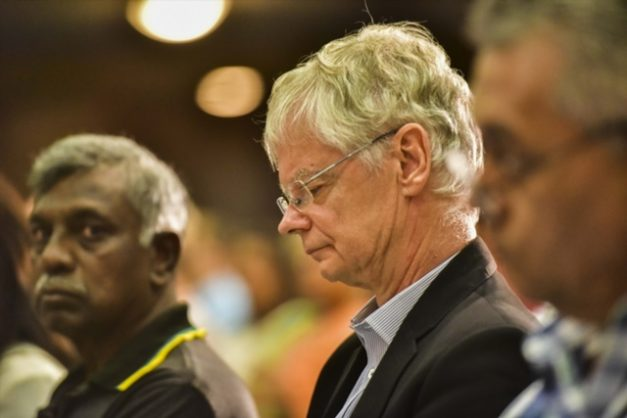 Willie Hofmeyr during the memorial service of struggle icon Ahmed Kathrada at the Greek Orthodox Church on April 05, 2017 in Pretoria. Picture: Gallo Images