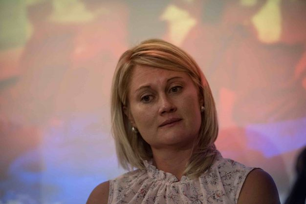 Laerskool Schweizer-Reneke teacher Elana Barkhuizen during a press briefing with Trade Union Solidarity in Centurion at Forever Resort, 15 January 2019, Pretoria. Picture: Jacques Nelles