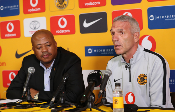 Ernst Middendorp, coach of Kaizer Chiefs with Bobby Motaung (Muzi Ntombela/BackpagePix)
