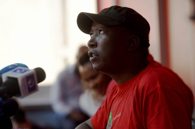 Economic Freedom Fighters leader Julius Malema briefs media at the party's headquarters in Braamfontein. Picture: Nigel Sibanda