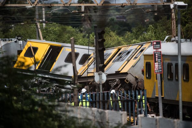 Two trains collided at the Mountain View Station in Pretoria, 8 January 2019. The train was reportedly carrying 800 passengers. Four people have been reported to have been killed so far and more than 600 are said to be injured. Picture: Jacques Nelles