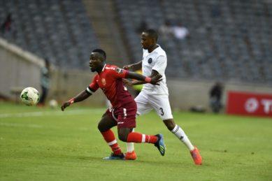 Shonga brace sets up Pirates' home win over Horoya