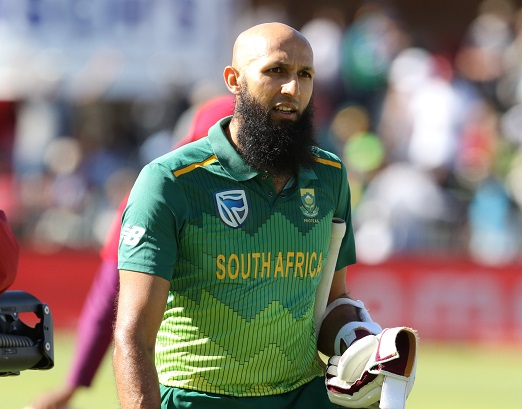Hashim Amla of South Africa during the 1st Momentum One Day International between South Africa and Pakistan at St Georges Park on January 19, 2019 in Port Elizabeth, South Africa. (Photo by Richard Huggard/Gallo Images)