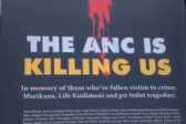 Not the first time a 'truth-speaking' billboard is vandalised – DA