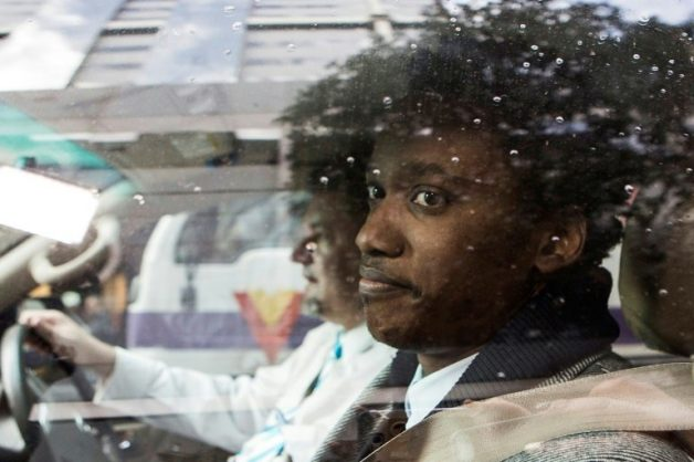 On trial: Duduzane Zuma, pictured as he arrived at court last July to face corruption charges. AFP/WIKUS DE WET