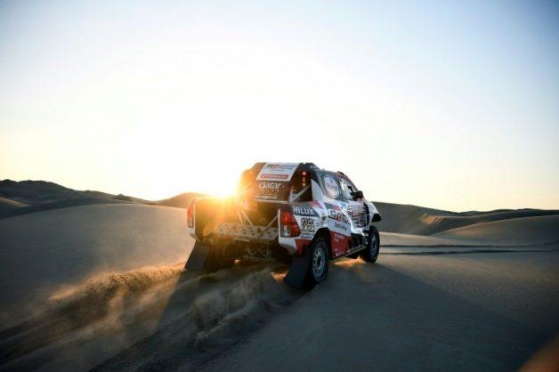 Nasser Al-Attiyah takes charge of the Dakar Rally . AFP/FRANCK FIFE
