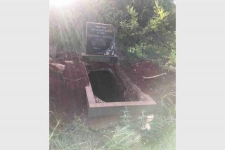Vandals destroy grave on Krugersdorp farm