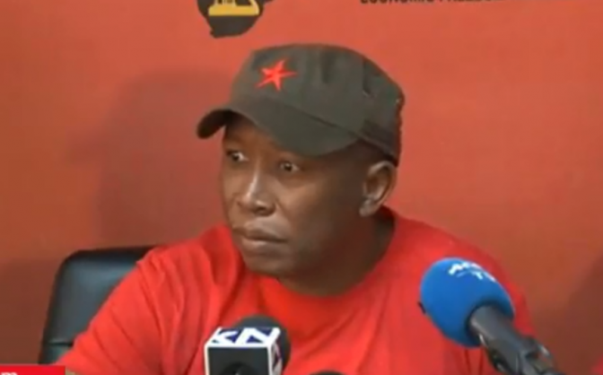 Malema: White people made it 'clear they are racist' by voting FF+