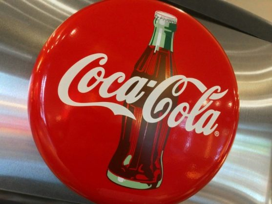 Shares of Coca-Cola fell on a disappointing 2019 profit outlook. AFP/File/Karen BLEIER