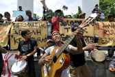 Indonesian entertainers protest law on 'pornography', blasphemy in music