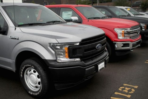 A transmission problem in Ford's popular pickup trucks has caused a handful of accidents, prompting a recall to fix the issue. GETTY/AFP/File/SCOTT OLSON