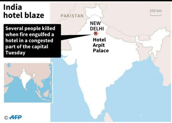 India hotel blaze. AFP/AFP