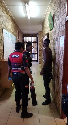 A 17-year-old grade nine student was repeatedly stabbed in what is believed to be a revenge attack at Trenance Park Secondary School in Verulam on Monday morning. PHOTO: Supplied/Rusa