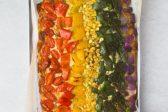 Recipe: Rainbow pesto pizza