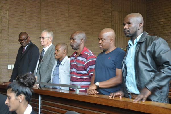 Former North West deputy provincial commissioner Major General William Mpembe and other policemen appeared in court in connection with Marikana 2012 shooting incidents. Photo: ANA