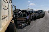 Minibus taxis, trucks, bakkies in multi-collision near Lanseria Airport