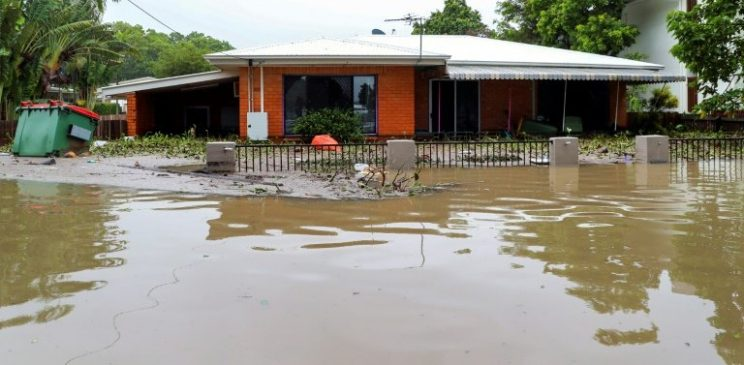 The recent downpours have seen some areas get a year's worth of rainfall in just a week. AFP/STR