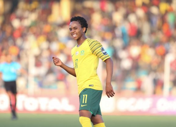 Nkosingiphile Nhlakanipho Ngcobo of South Africa during the 2019 U20 African Cup of Nations match between South Africa and Burundi at the Stade De Maradi Stadium. (BackpagePix)