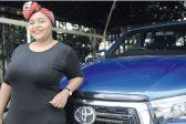 Toyota's Lensha Dlamini is in testosterone heaven