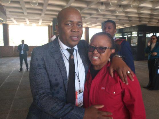 Mzwandile Masina with Mandisa Mashego. Picture: Twitter