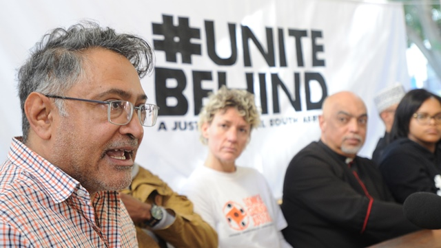 Zackie Achmat  is pictured during the #UniteBehind coalition press conference at St George's Cathedral on August 03, 2017 in Cape Town, South Africa. #UniteBehind has asked the public to join the People's March next week, ahead of the motion of no confidence in President Jacob Zuma. Picture: Gallo Images / Brenton Geach