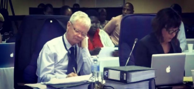 Deputy National Director of Public Prosecutions Willie Hofmeyr taking notes at the Mokgoro inquiry, 11 Fbrbuary 2019. Photo: Brenda Masilela / ANA