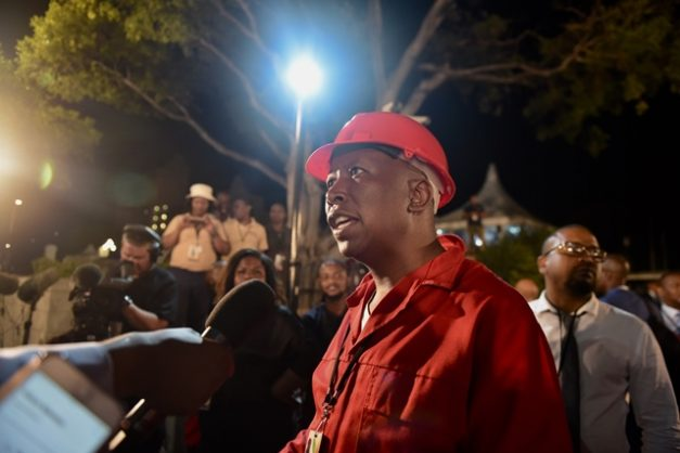 Julius Malema, EFF leader, after the 2019 Sona in Cape Town, 7 February 2019. Picture: Tracy Lee Stark