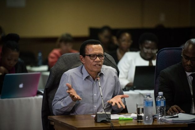 Suspended special director of public prosecutions, advocate Lawrence Mrwebi, is seen on the stand during the Mokgoro Commision, 20 February 2019, Centurion. Picture: Jacques Nelles