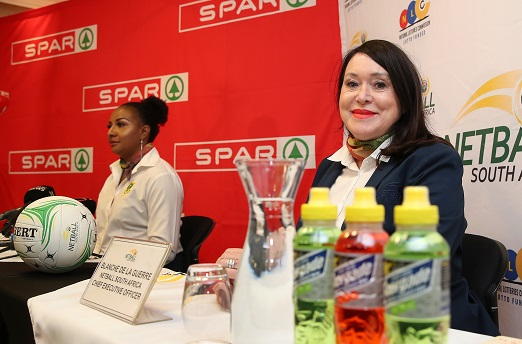 Blanche de la Guerre, CEO of South African Netball during the Netball South Africa Bid Announcement Media Conference at Southern Sun Katherine Street Hotel on February 13, 2019 in Johannesburg, South Africa. (Photo by Reg Caldecott/Gallo Images)