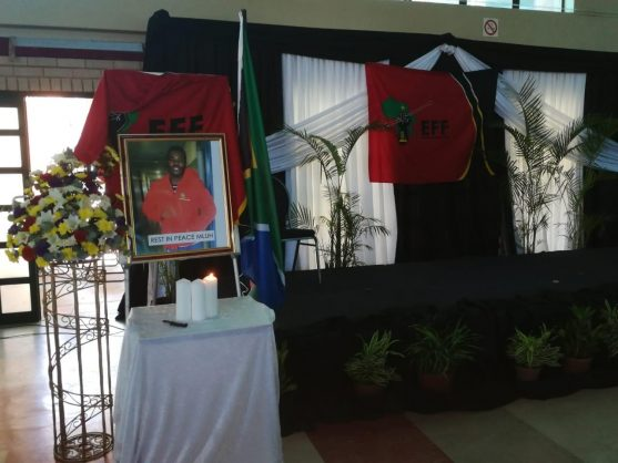 Students packed the Ritson Hall at DUT on Tuesday, 12 February 2019, for a memorial in honour of slain student Mlungisi Madonsela. Picture: ANA