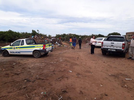 The place where the murdered men's remains were found in Motherwell, Port Elizabeth, Eastern