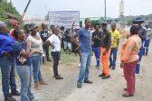 Unemployed demand jobs at Bospoort Dam project, Rustenburg