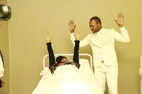 Pastor Alph Lukau during a healing session at a hospital. Image: Nhlakanipho Sithole/Facebook.