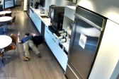 WATCH: Man caught on CCTV allegedly faking a fall for insurance claim