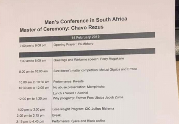 What Is An Agenda   In Tweets What The Heck Is The Men S Conference The Citizen