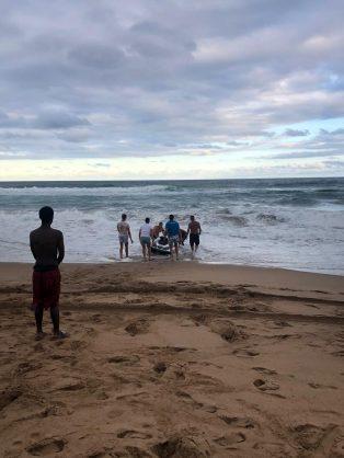 The scene at Amanzimtoti's Inyoni Rocks on Wednesday.