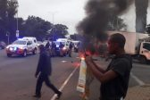 WATCH: Rubber bullets, burning tyres as protesters block Marlboro drive