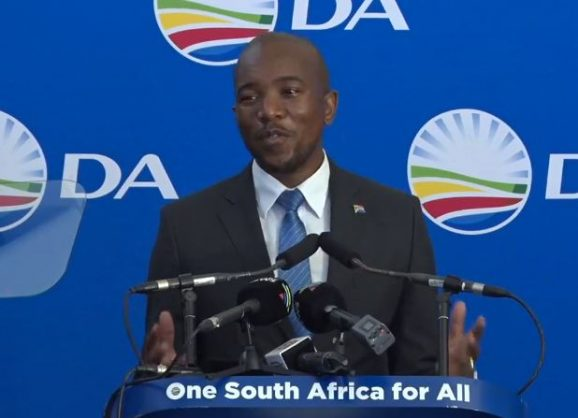 DA leader Mmusi Maimane delivers his State of the Nation address. Picture: Screenshot.