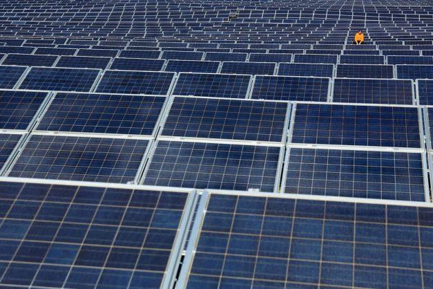 A solar energy park. Picture: AFP