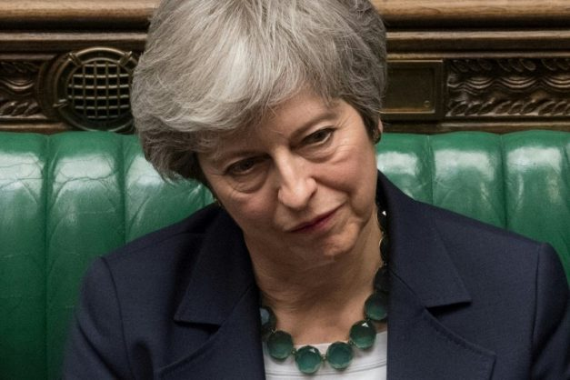 Theresa May wants to put her Brexit deal to a parliamentary vote for a third time, having lost the first two votes by a wide margin. UK PARLIAMENT/AFP/MARK DUFFY